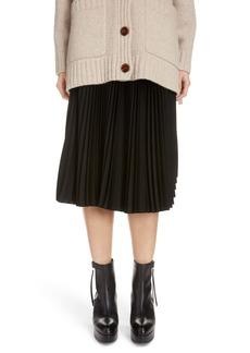 Acne Studios Ilky Pleated Midi Skirt