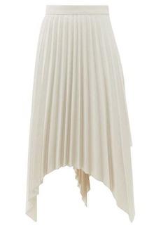 Acne Studios Ilsie pleated asymmetric wool-blend skirt