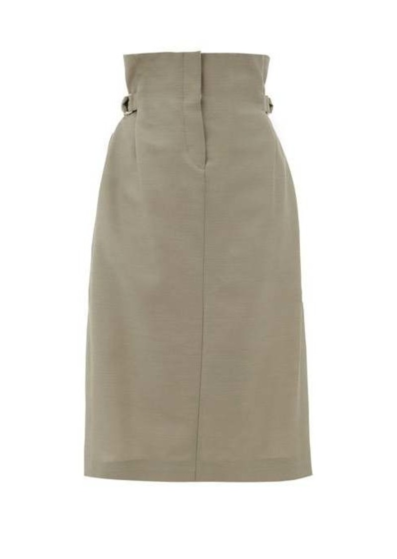 Acne Studios Ippy paper-bag wool-twill skirt
