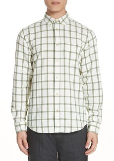 Acne Studios Isherwood Linen Cotton Check Sport Shirt