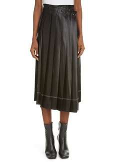 ACNE Studios Itty Cinz Pleated Satin Skirt