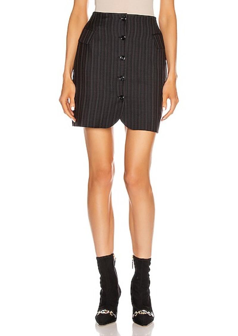 Acne Studios Ivet Pinstripe Skirt