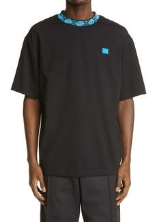 Acne Studios Jacquard Crewneck Relaxed Fit T-Shirt