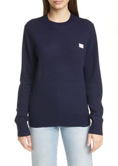 Acne Studios Kalon Face Patch Wool Sweater