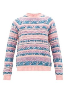 Acne Studios Karlos crew-neck intarsia-knitted sweater