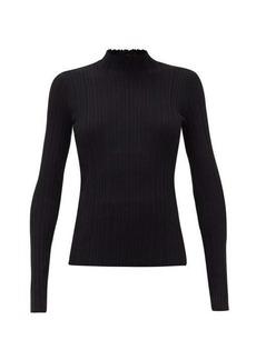 Acne Studios Katina high-neck ribbed cotton-blend sweater