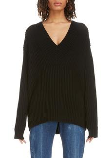 Acne Studios Keborah V-Neck Wool Sweater