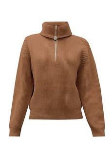 Acne Studios Kelanie zipped roll-neck wool-blend sweater