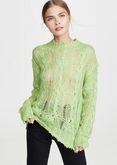 Acne Studios Kelena Mohair Cable Knitwear