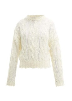 Acne Studios Kella distressed cable-knit sweater