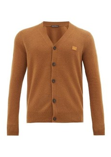 Acne Studios Keve face-logo appliqué wool cardigan