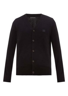 Acne Studios Keve logo-embroidered wool cardigan