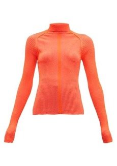 Acne Studios Komina fluorescent roll-neck rib-knit top