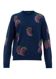 Acne Studios Koray fruit-jacquard sweater