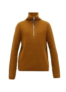 Acne Studios Korman half-zip wool-blend sweater