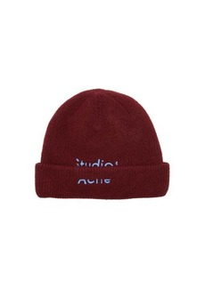 Acne Studios Kreed logo-embroidered wool-blend beanie
