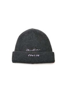 Acne Studios Kreed logo-embroidered wool-blend beanie hat
