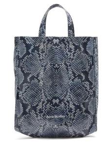 Acne Studios Large snake-print cotton-canvas tote bag