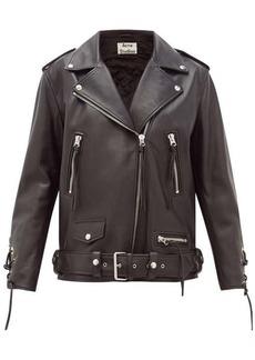 Acne Studios Lastrid lace-up leather jacket