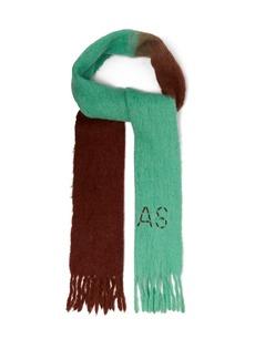 Acne Studios Logo-embroidered bicolour scarf