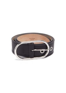 Acne Studios Logo-engraved buckle leather belt