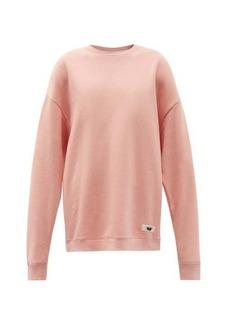 Acne Studios Logo-tab oversized cotton-blend jersey sweatshirt