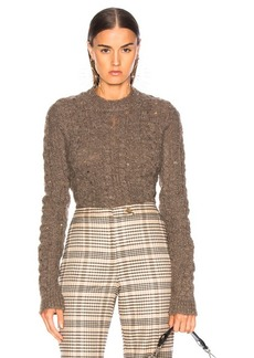 Acne Studios Long Sleeve Crop Sweater