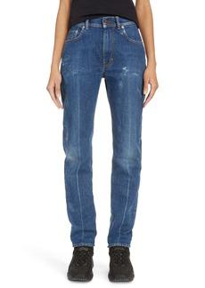 Acne Studios Melk Creased High Waist Slim Crop Jeans