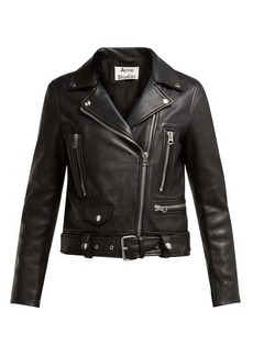 Acne Studios Mock leather biker jacket