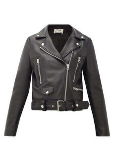 Acne Studios Mock smooth-leather biker jacket