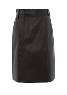 Acne Studios Off-centre leather skirt