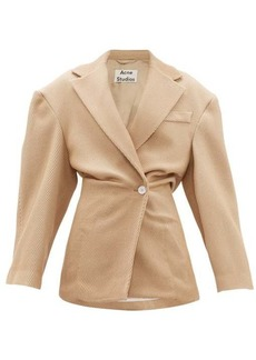 Acne Studios Onesta cinched-waist wool-blend jacket