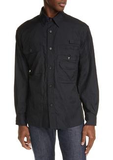 Acne Studios Orallo Button-Up Nylon Shirt Jacket