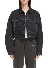 Acne Studios Oriana Crop Denim Jacket