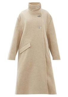Acne Studios Osandra wool-blend A-line overcoat