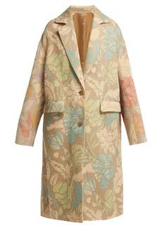 Acne Studios Oversized floral-print coat