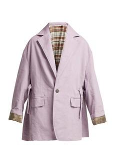 Acne Studios Oversized single-breasted cotton blazer