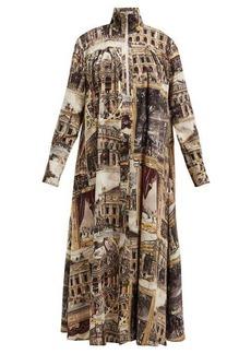 Acne Studios Palais Garnier-print toile de Jouy dress