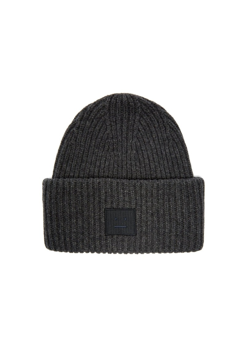 Acne Studios Acne Studios Pansy N Face ribbed-knit wool beanie hat ... cc5010a7a99d