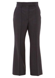 Acne Studios Patrina high-rise pinstriped wool trousers