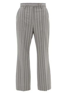 Acne Studios Patrina high-rise pinstriped wool trousers