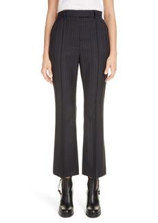 Acne Studios Patrina Pinstripe Wool Crop Flare Trousers