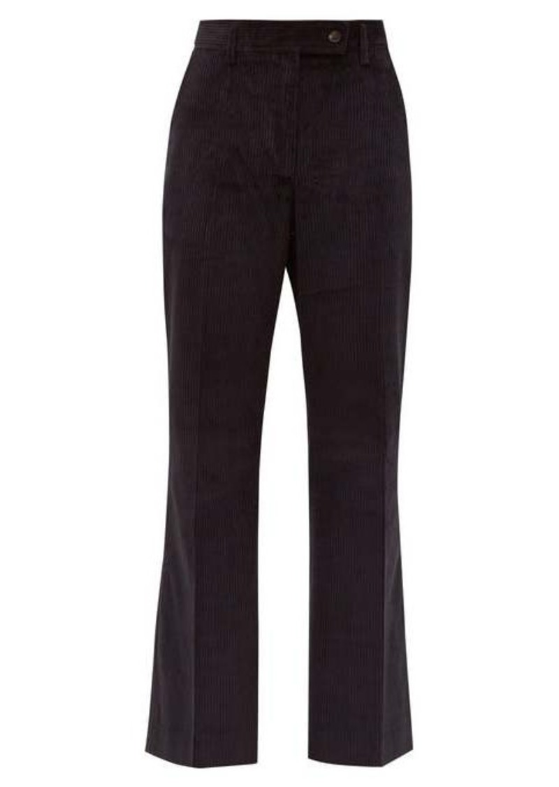 Acne Studios Patsyne cropped cotton-corduroy trousers