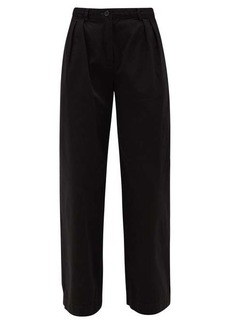 Acne Studios Pavi pleated cotton-twill straight-leg trousers