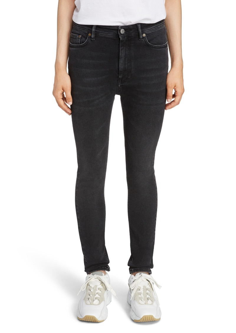 Acne Studios Peg High Waist Skinny Jeans (Used Black)