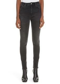 Acne Studios Peg High Waist Skinny Jeans (Used Black)