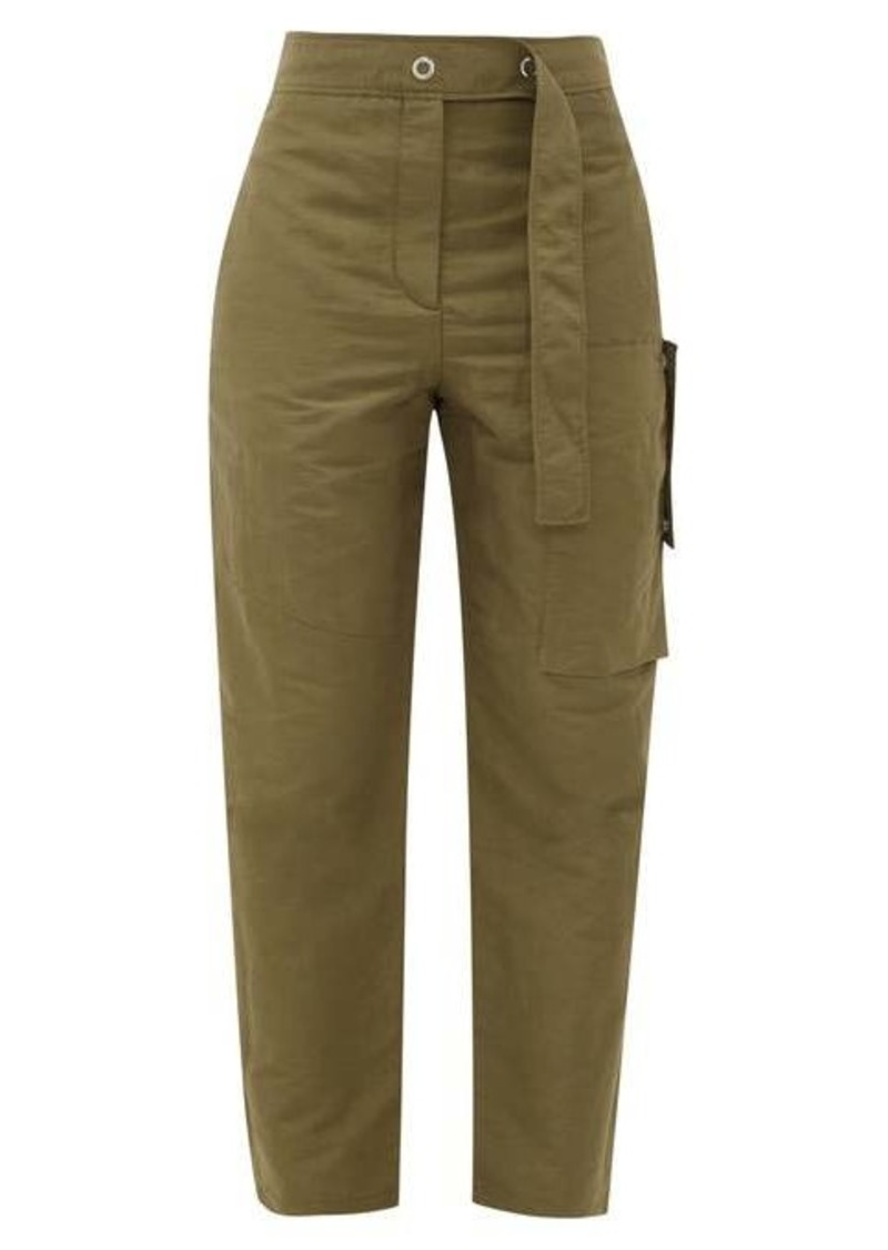 Acne Studios Peganne slubbed technical peg trousers