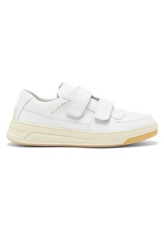 Acne Studios Perey face-logo leather trainers