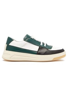 Acne Studios Perey panelled leather low-top trainers