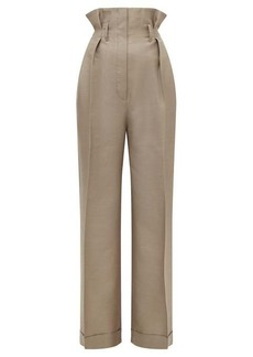 Acne Studios Perrie paperbag-waist wool-blend twill trousers